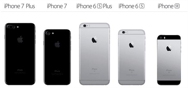 iPhoneの大きさ比較