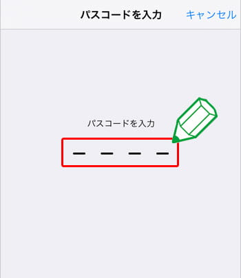mineoのAPN設定「パスコードを入力する」